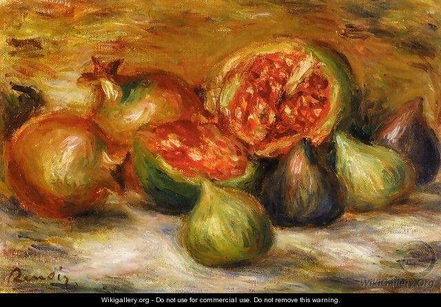 Still Life With Figs - Pierre Auguste Renoir