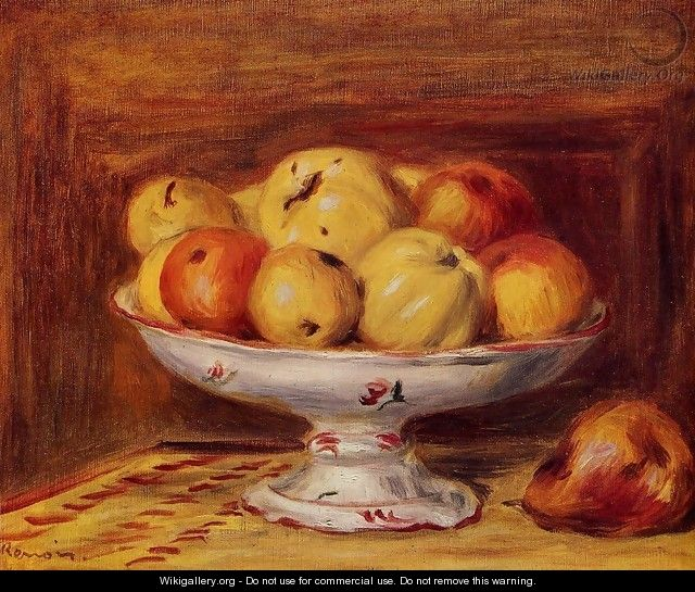 Still Life With Apples And Pears - Pierre Auguste Renoir