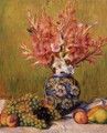 Still Life Flowers And Fruit - Pierre Auguste Renoir
