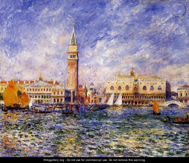 The Doges Palace Venice - Pierre Auguste Renoir