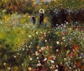 Summer Landscape Aka Woman With A Parasol In A Garden - Pierre Auguste Renoir