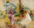 Two Women In A Garden2 - Pierre Auguste Renoir