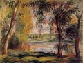 Trees By The Water - Pierre Auguste Renoir