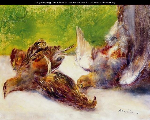 Three Partridges - Pierre Auguste Renoir