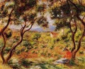 The Vineyards Of Cagnes - Pierre Auguste Renoir
