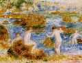 Nude Boys On The Rocks At Guernsey - Pierre Auguste Renoir