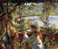 Near The Lake - Pierre Auguste Renoir