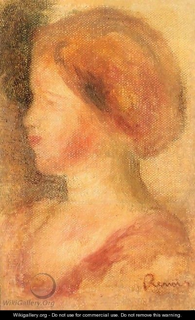 Portrait Of A Young Girl2 - Pierre Auguste Renoir
