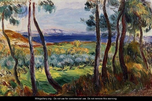 Pines In The Vicinity Of Cagnes - Pierre Auguste Renoir