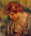 Profile Of Andre Leaning Over - Pierre Auguste Renoir