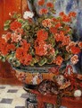 Geraniums And Cats - Pierre Auguste Renoir