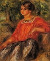 Gabrielle In The Garden At Cagnes - Pierre Auguste Renoir