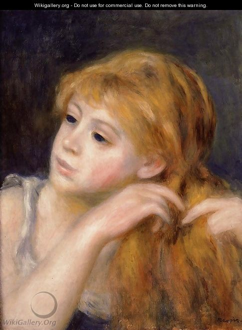 Head Of A Young Woman9 - Pierre Auguste Renoir