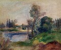 Banks Of The River - Pierre Auguste Renoir