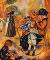 At The Luxembourg Gardens - Pierre Auguste Renoir
