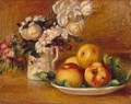 Apples And Flowers - Pierre Auguste Renoir