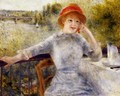 Alphonsine Fournaise On The Isle Of Chatou - Pierre Auguste Renoir