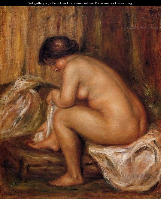 After Bathing - Pierre Auguste Renoir