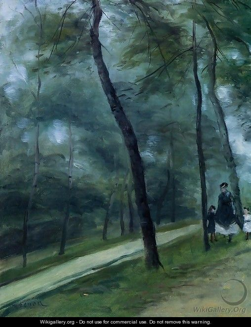 A Walk In The Woods Aka Madame Lecoeur And Her Children - Pierre Auguste Renoir