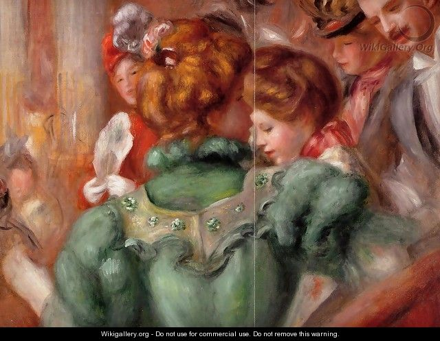 A Box In The Theater Des Varietes - Pierre Auguste Renoir