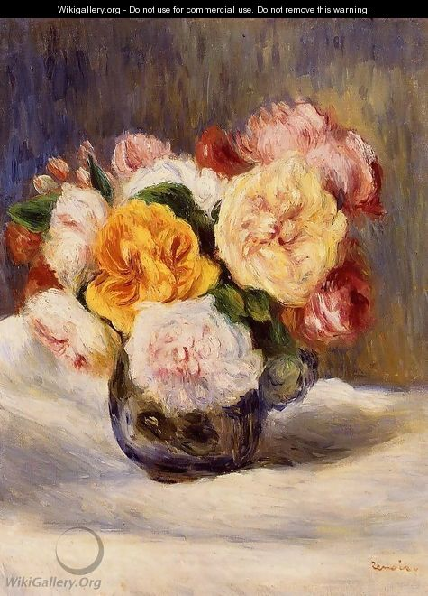 Bouquet Of Roses2 - Pierre Auguste Renoir