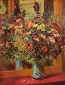 Bouquet In Front Of A Mirror - Pierre Auguste Renoir