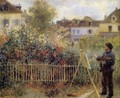 Claude Monet Painting In His Garden At Argenteuil - Pierre Auguste Renoir