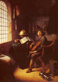 An Interior With A Young Violinist 1637 - Gerrit Dou