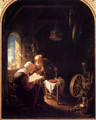 The Bible Lesson Or Anne And Tobias - Gerrit Dou