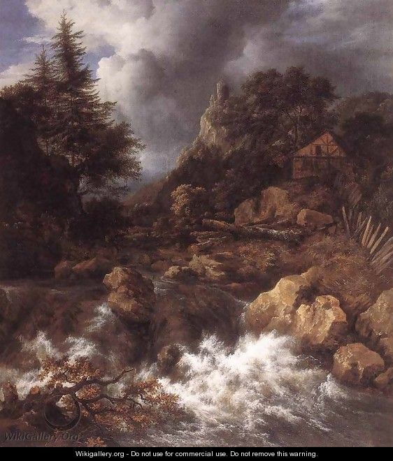 Waterfall in a Mountainous Northern Landscape 1665 - Jacob Van Ruisdael