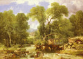 A Wooded Ford - Thomas Sidney Cooper