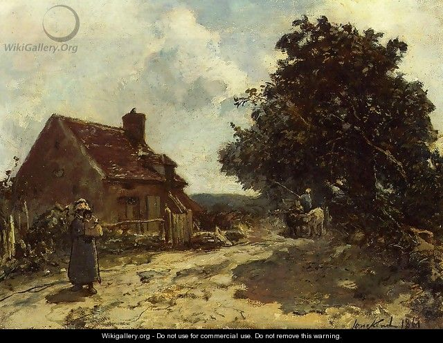 In The Vicinity Of Nevers - Johan Barthold Jongkind