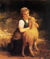 Young Girl With Lamb - Emile Munier