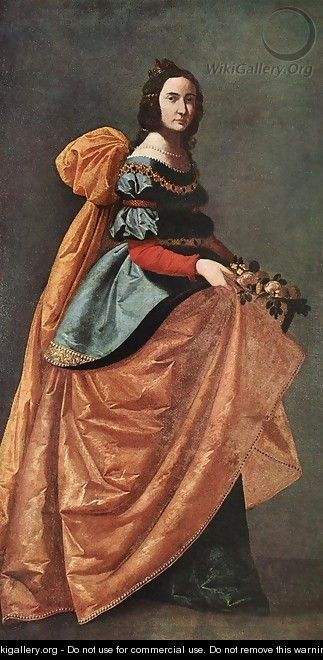 St Casilda of Burgos 1638-42 - Francisco De Zurbaran
