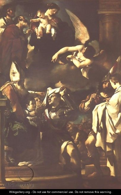 St William Of Aquitaine Receiving The Cowl 1620 - Giovanni Francesco Guercino (BARBIERI)
