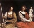 Allegory Of Painting And Sculpture 1637 - Giovanni Francesco Guercino (BARBIERI)