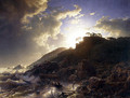 Sunset After A Storm On The Coast Of Sicily - Andreas Achenbach