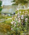 Hollyhocks2 - John Henry Twachtman