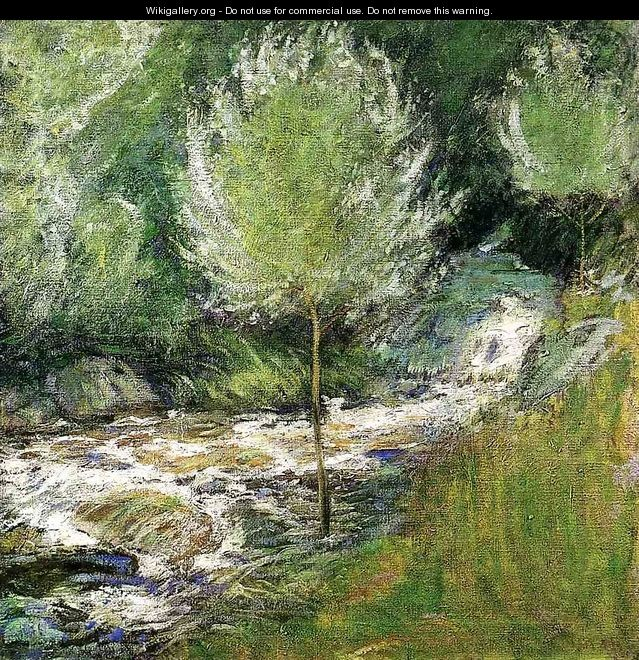 The Brook Greenwich Connecticut Aka Horseneck Falls Greenwich Connecticut - John Henry Twachtman