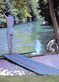 Bather Preparing To Dive Banks Of The Yerres - Gustave Caillebotte