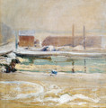 View From The Holley House Winter - John Henry Twachtman