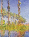 Three Poplar Trees Autumn Effect - Claude Oscar Monet