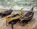 Three Fishing Boats - Claude Oscar Monet
