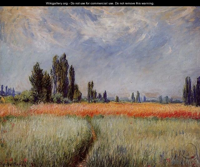 The Wheat Field - Claude Oscar Monet