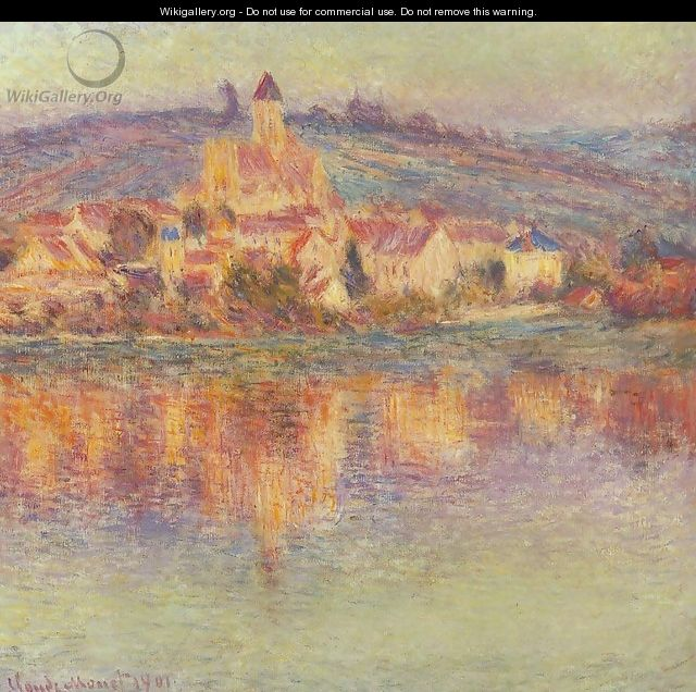 Vetheuil At Sunset - Claude Oscar Monet