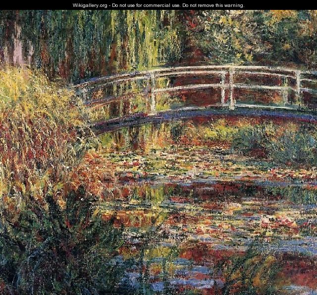 Water Lily Pond Symphony In Rose - Claude Oscar Monet