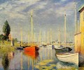 Yachts At Argenteuil - Claude Oscar Monet
