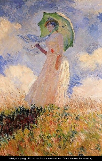 Claude Monet Study of a Figure Outdoors (Facing Right ...