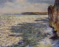 Waves And Rocks At Pourville - Claude Oscar Monet