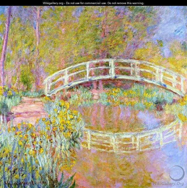 The Bridge In Monets Garden - Claude Oscar Monet